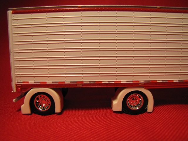 Custom Show Spread Axle Van/Reefer  Trailer Full Fenders (Resin)