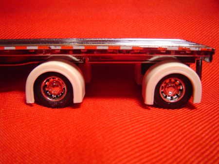 Spread Axle Flatbed Trailer Full Fenders (Resin)
