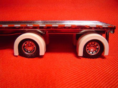 Spread Axle Flatbed Trailer Full Fenders (Resin)