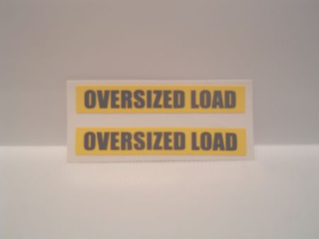 Oversize Load Decal (2 Decals)