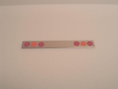 Red with Center Orange Light Bars