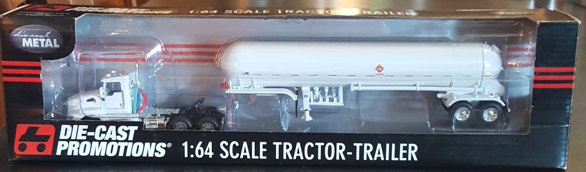 White Kenworth T660 Day Cab w/Mississippi Propane Tanker-Trailer